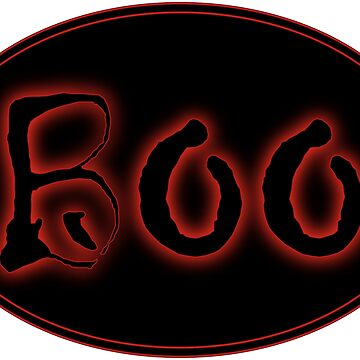 Glowing Red Halloween Boo Bar Sign by gkillerb
