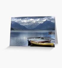Docked Canoes Greeting Card