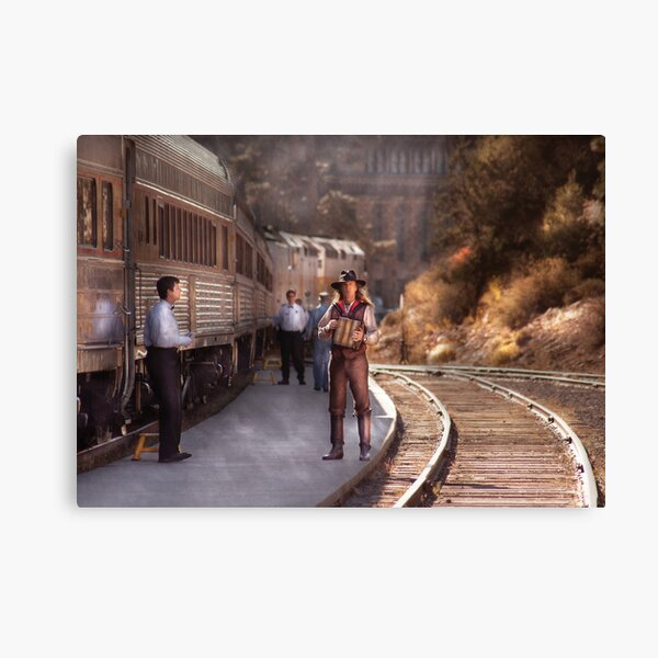 The guy and the Squeeze Box Canvas Print