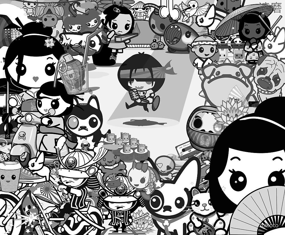 mikoto's Black & White (sans Logo) by mikoto