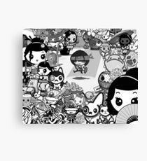mikoto's Black & White (sans Logo) Canvas Print
