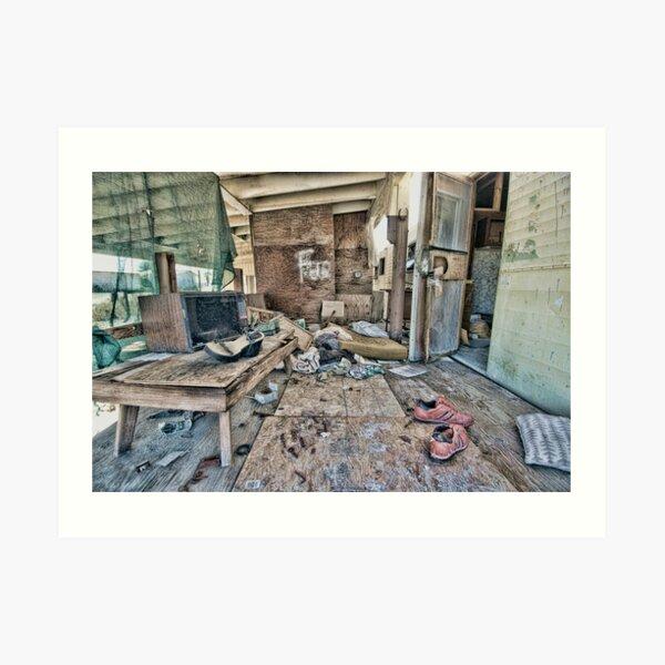 Salton City Abandoned Home Art Print