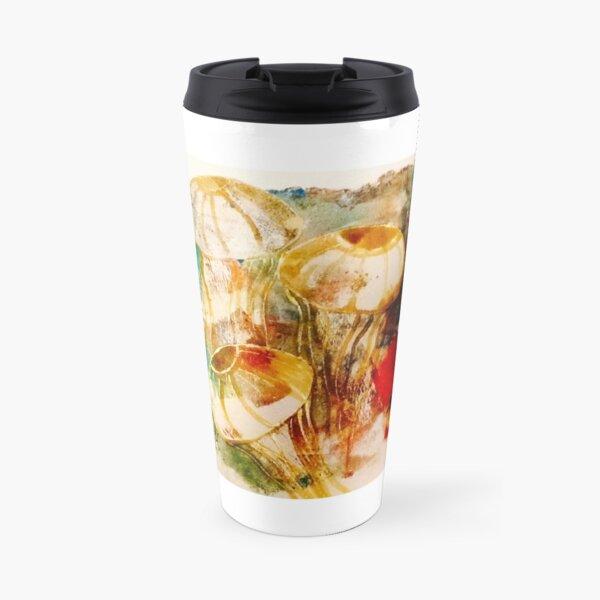 Jellyfish Gelliprint in colour Travel Mug