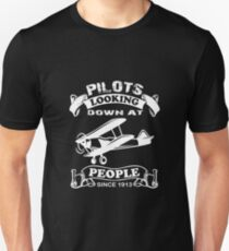 Pilot looking down at people Unisex T-Shirt