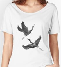 Flying Cranes Women's Relaxed Fit T-Shirt