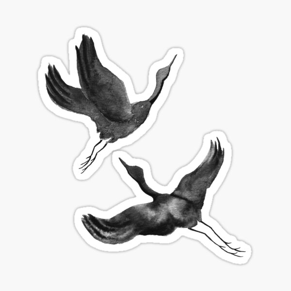 Flying Cranes Sticker