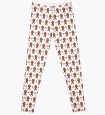 Gingerbread Man Pattern Leggings
