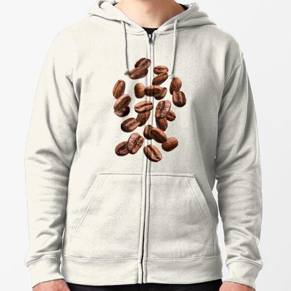 I Love Coffee Caffein Espresso Mocha Latte Beans Mens Gray Hoodie