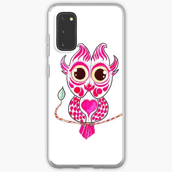 Watercolor Art | Pink Owl Samsung Galaxy Soft Case