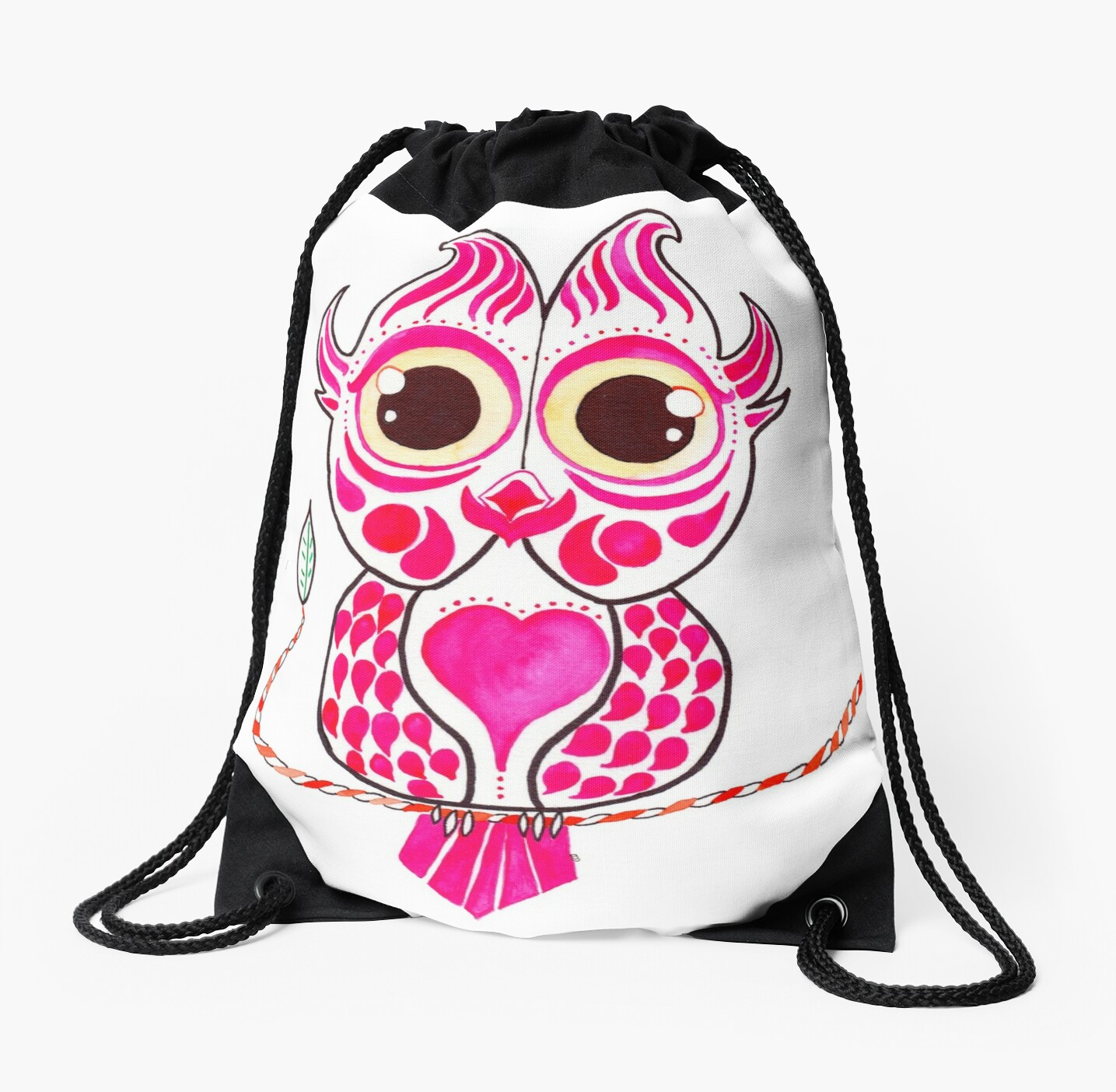 Watercolor Art | Pink Owl by coloringiship