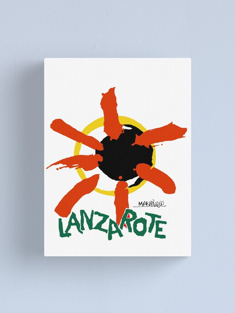 Alternate view of Lanzarote - Large Logo Canvas Print