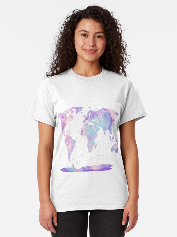 Alternate view of Unicorn Earth Map Classic T-Shirt