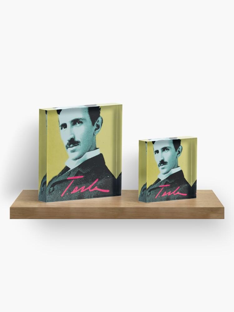 Alternate view of Nikola Tesla Quote 1 Acrylic Block