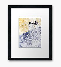 Snow House on Blue Hill Framed Print