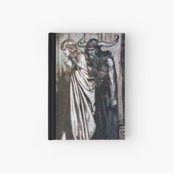 Twilight of the Gods - Hagen informs Brünnhilde of Siegfried's betrayal (Rackham) Hardcover Journal