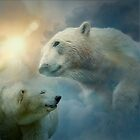 Polar Bears and Sky by Erika Kaisersot
