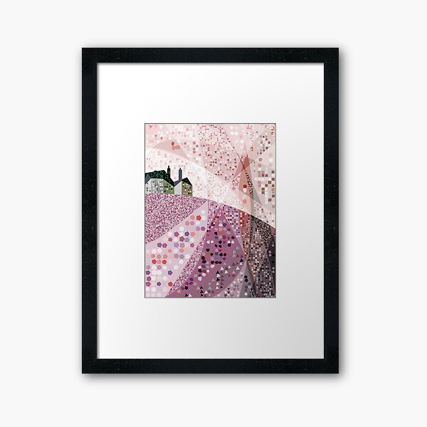 Slate House in Summer Framed Art Print