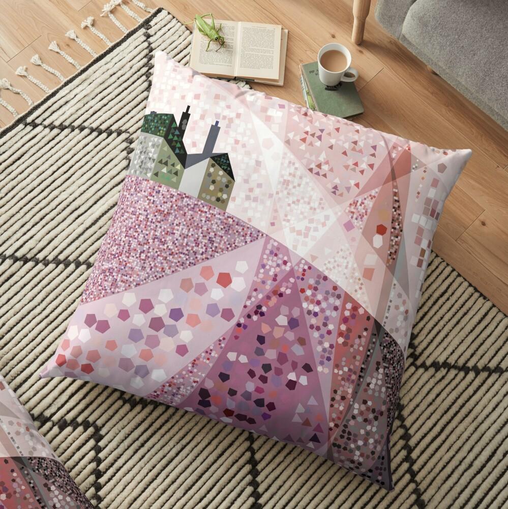 Slate House in Summer Floor Pillow