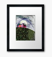 Red House on Starry Night Framed Print