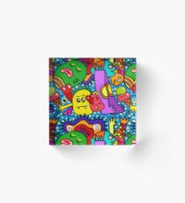 Cool Colorful Party Acrylic Block