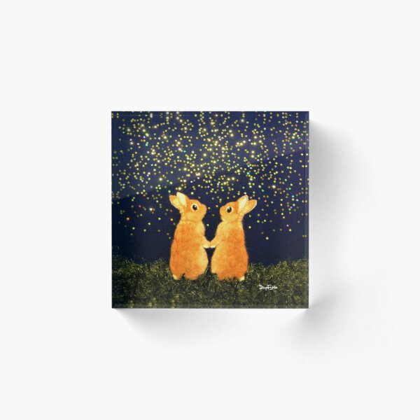 looking for shooting stars (2008) Rabbit / Bunny Art Acrylic Block