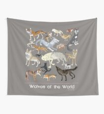 Wolves of the world (Poster) Tela decorativa
