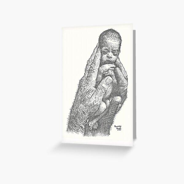 Newborn ink pointillism Greeting Card