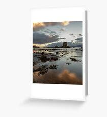 Castle Stalker in Argyll near sunset. Greeting Card