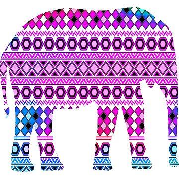 Aztec Elephant by funflirtydesign