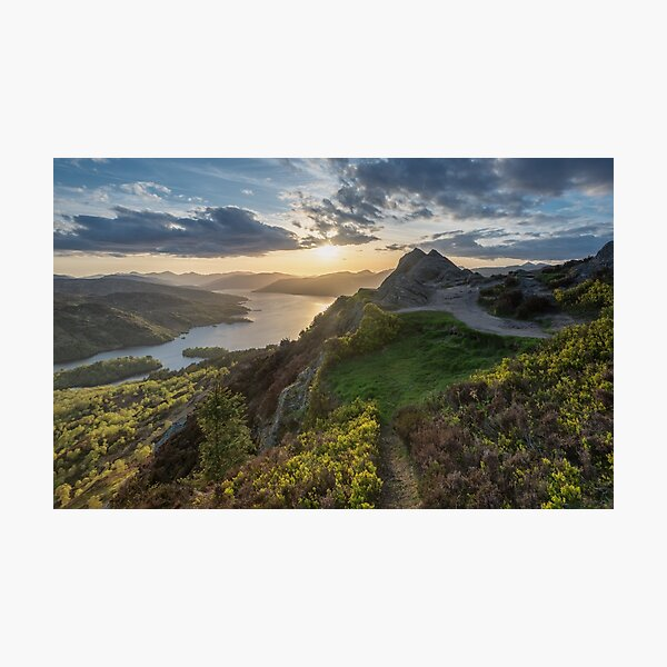 Loch Katrine from Ben A'an near sunset. Photographic Print