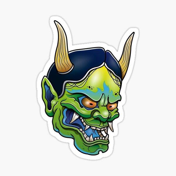 Green Hannya Sticker