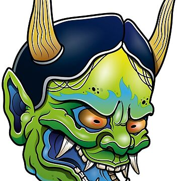 Green Hannya by satoriartwork