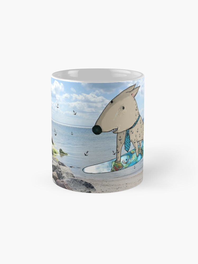Alternative Ansicht von Surfer Dog Tasse (Standard)
