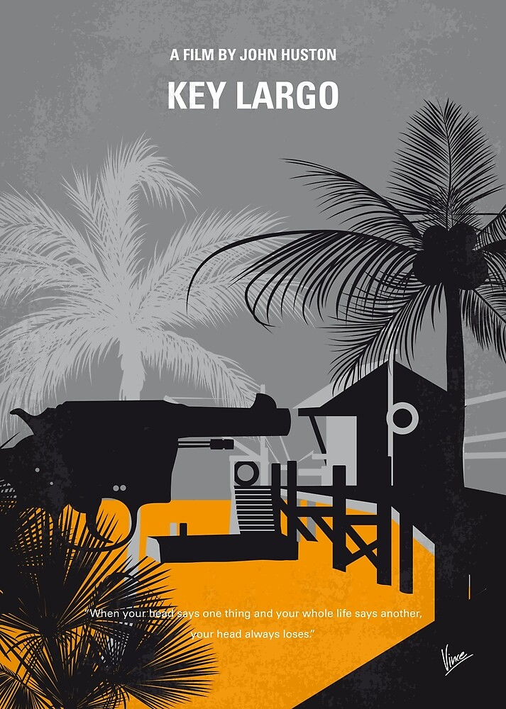 No998 My Key Largo minimales Filmplakat von ChungKong Art