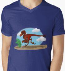 Utahraptor  Mens V-Neck T-Shirt