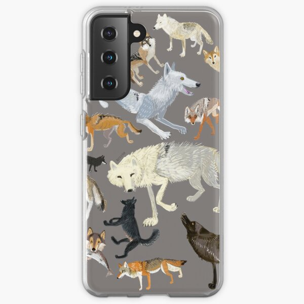 Wolves of the world - Grey Samsung Galaxy Soft Case