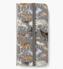 Wolves of the world - Grey Vinilo o funda para iPhone