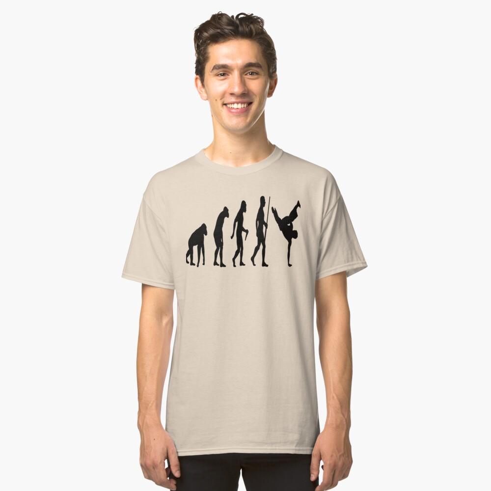 Evolution Break Dancer Classic T-Shirt Front