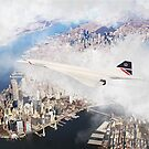 Concorde And The Big Apple by Airpower Art