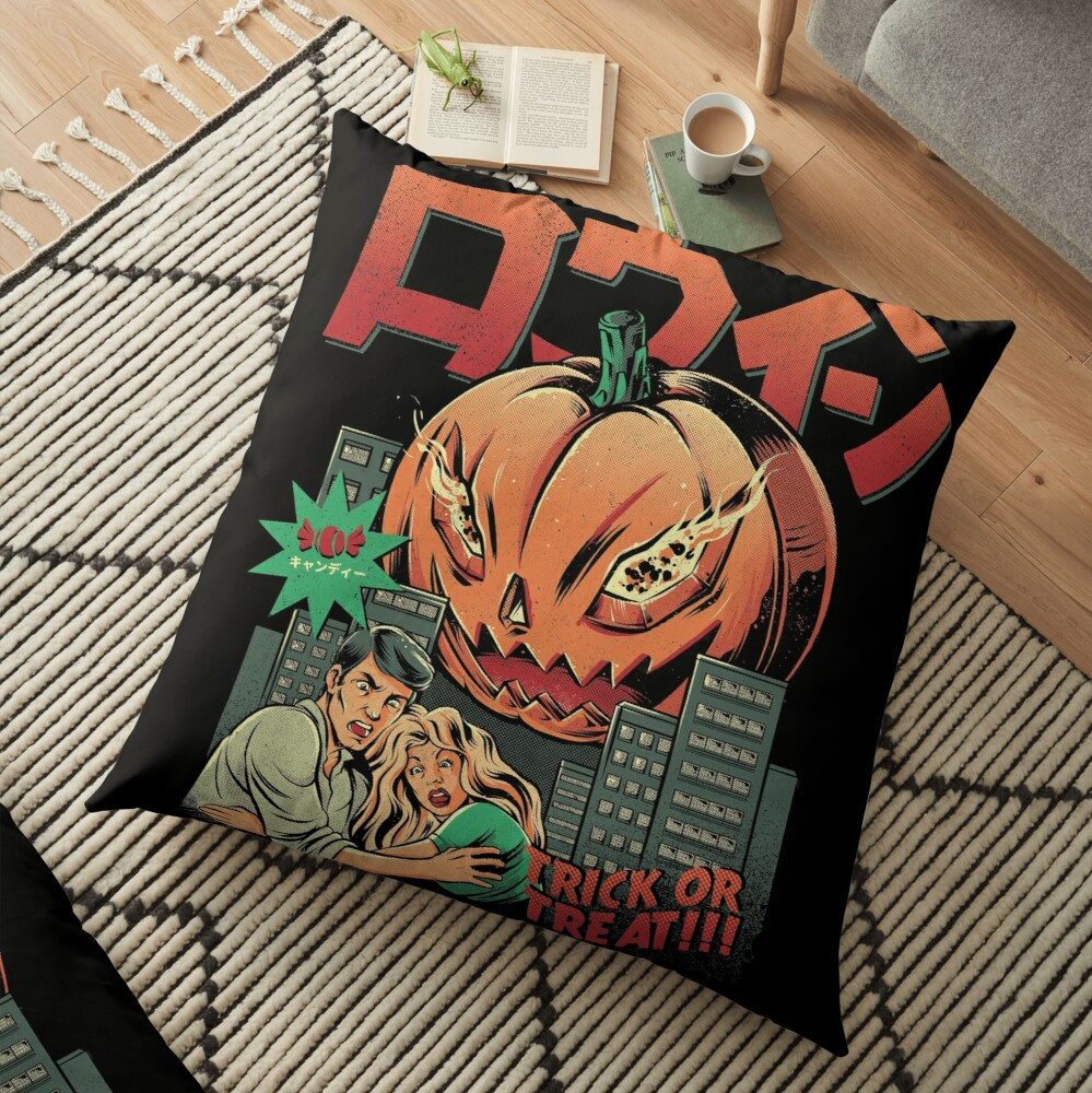 THE KILLER PUMPKIN Floor Pillow