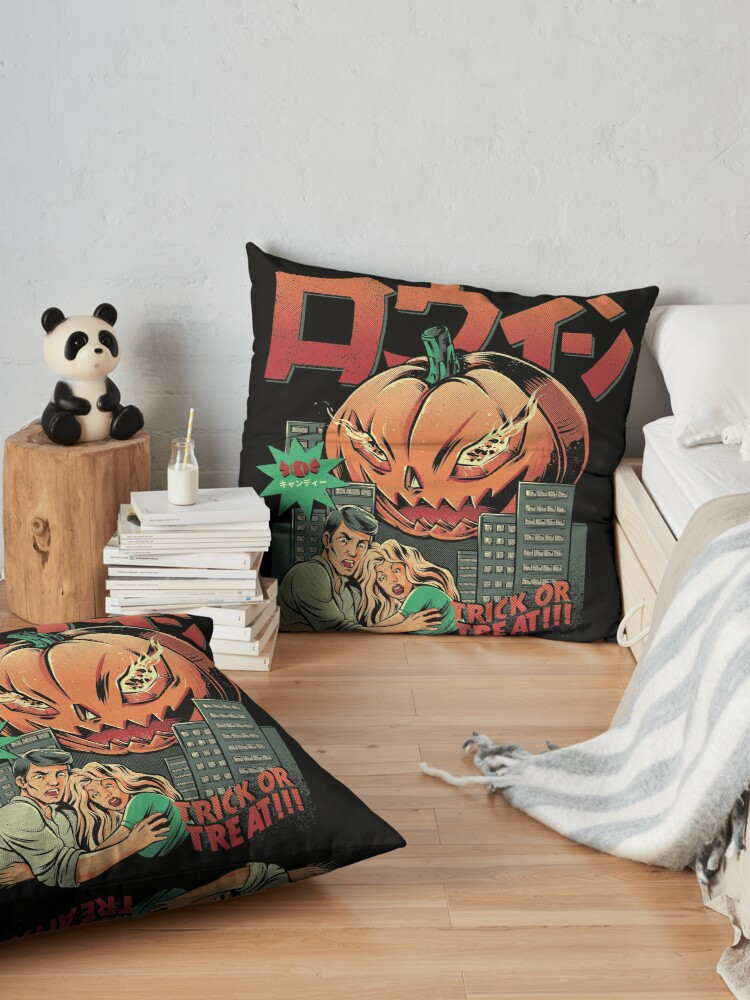 Alternate view of THE KILLER PUMPKIN Floor Pillow