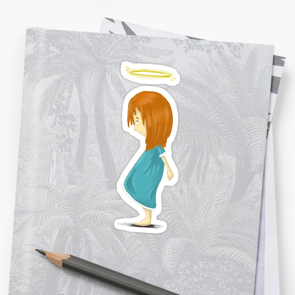 Angel Girl - tee Sticker Front