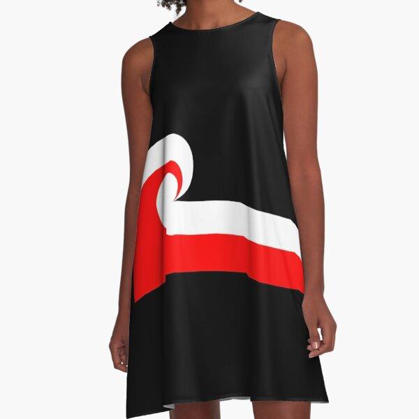 Maori Flag A-Line Dress