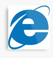 internet explorer Metal Print