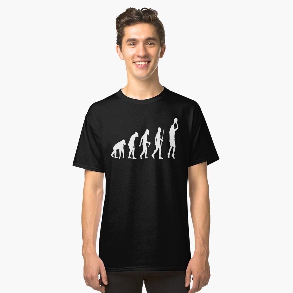 Basketball Evolution Classic T-Shirt Front