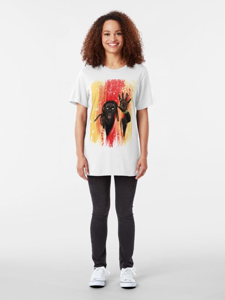 Alternate view of Lion of Gomis - tee Slim Fit T-Shirt