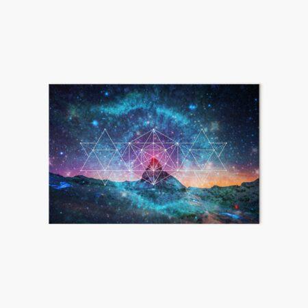 Sacred Geometry - Space Triplet Art Board Print