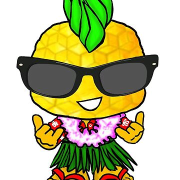 Pineapple Shaka Dude by Kaaawasaki