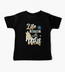 Wolf Better Life Animal Gray Wolf Baby Tee