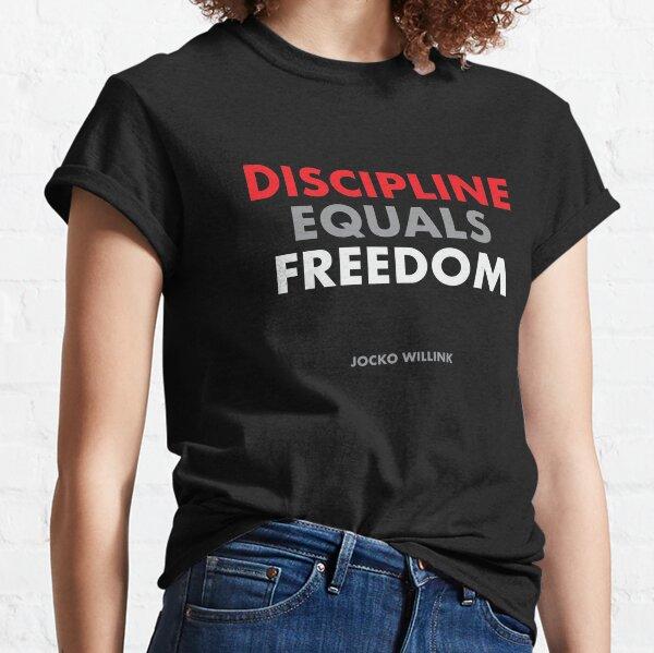 """Discipline Equals Freedom"" Jocko Willink Classic T-Shirt"